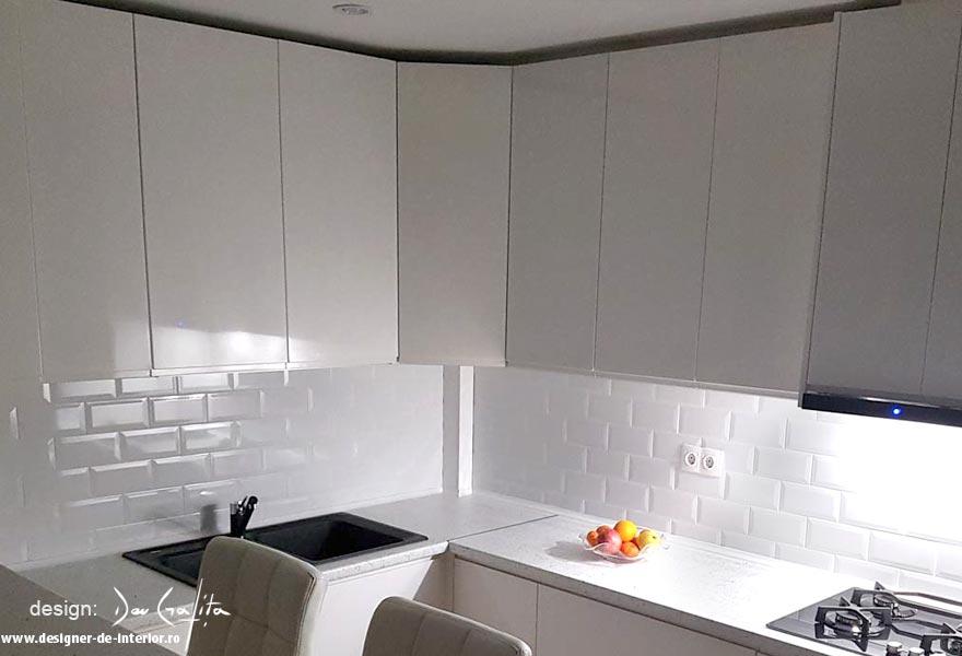 design apartament - bucatarie